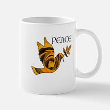 Peace Dove-Gld Mugs