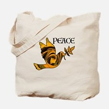 Peace Dove-Gld Tote Bag