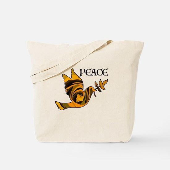 Peace Dove-Gld Tote Bag
