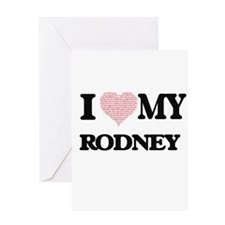 I Love my Rodney (Heart Made from L Greeting Cards