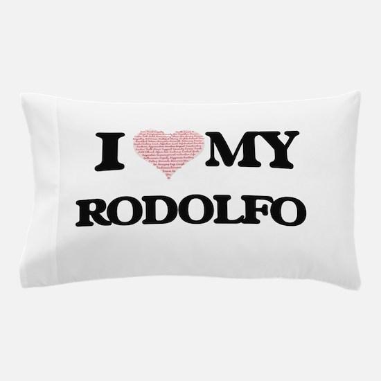 I Love my Rodolfo (Heart Made from Lov Pillow Case