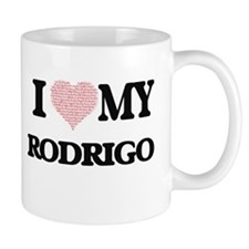 I Love my Rodrigo (Heart Made from Love my wo Mugs