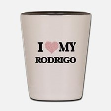 I Love my Rodrigo (Heart Made from Love Shot Glass