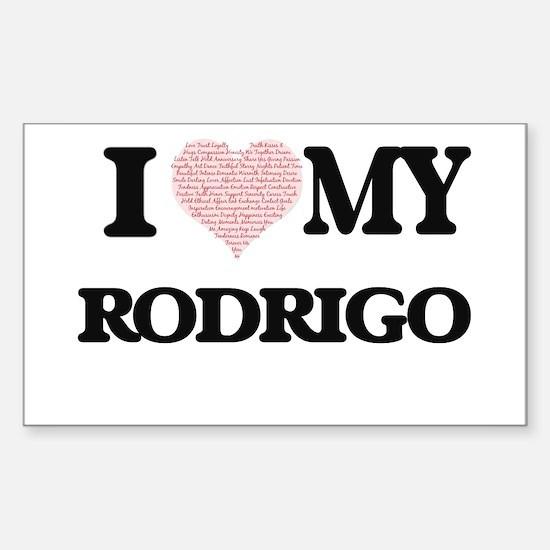 I Love my Rodrigo (Heart Made from Love my Decal