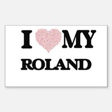 I Love my Roland (Heart Made from Love my Decal