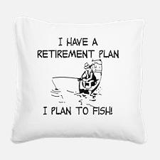 Cute Retirement Square Canvas Pillow