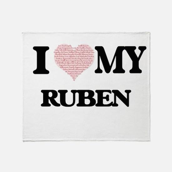 I Love my Ruben (Heart Made from Lov Throw Blanket
