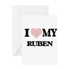 I Love my Ruben (Heart Made from Lo Greeting Cards