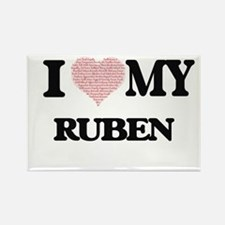 I Love my Ruben (Heart Made from Love my w Magnets