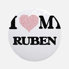 I Love my Ruben (Heart Made from Lo Round Ornament