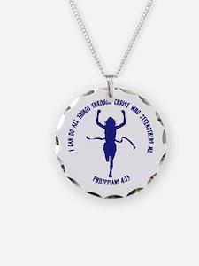 PHILIPPIANS 4:13 Necklace Circle Charm