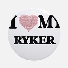 I Love my Ryker (Heart Made from Lo Round Ornament