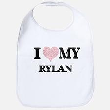 I Love my Rylan (Heart Made from Love my words Bib