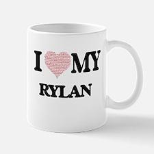 I Love my Rylan (Heart Made from Love my word Mugs