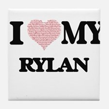 I Love my Rylan (Heart Made from Love Tile Coaster