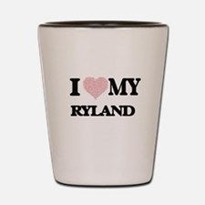 I Love my Ryland (Heart Made from Love Shot Glass