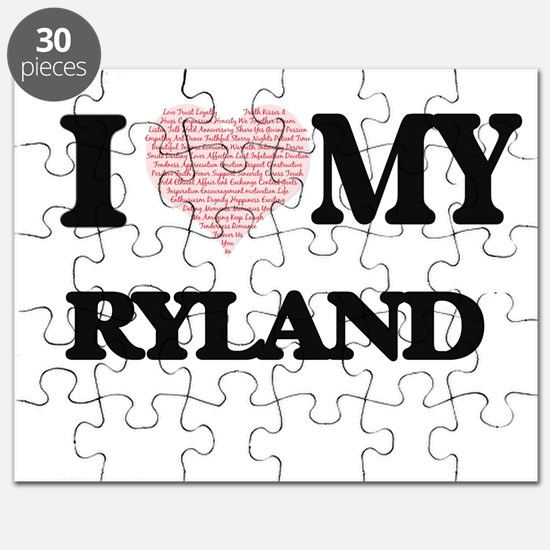 I Love my Ryland (Heart Made from Love my w Puzzle