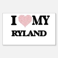 I Love my Ryland (Heart Made from Love my Decal