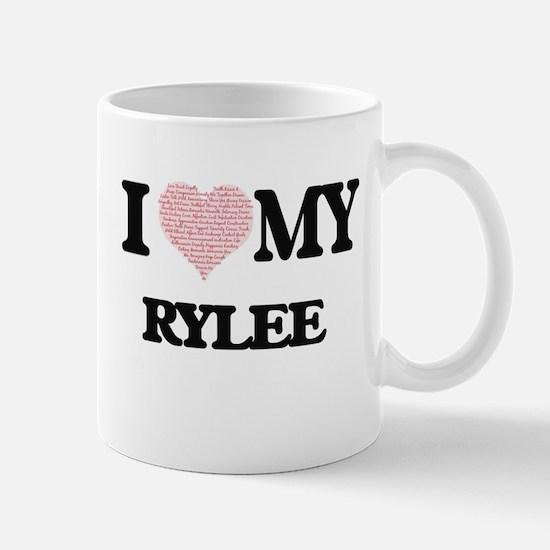 I Love my Rylee (Heart Made from Love my word Mugs
