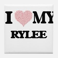 I Love my Rylee (Heart Made from Love Tile Coaster