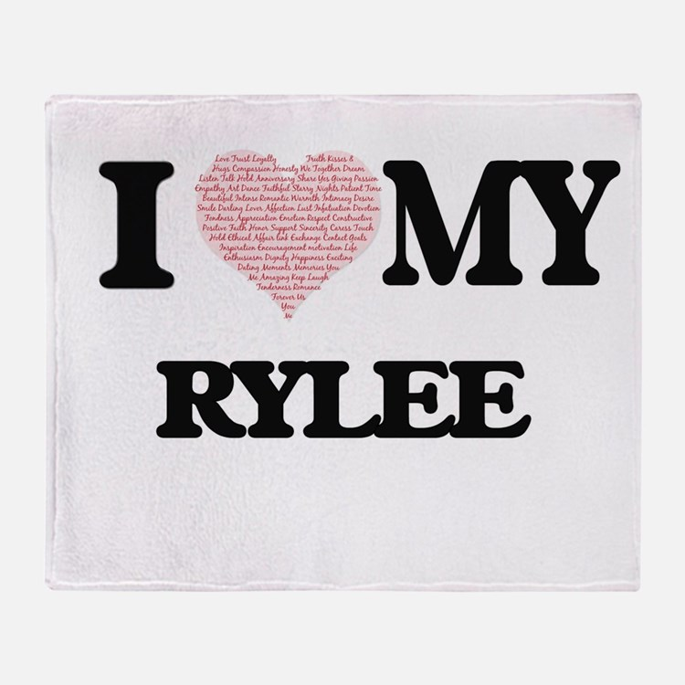 I Love my Rylee (Heart Made from Lov Throw Blanket