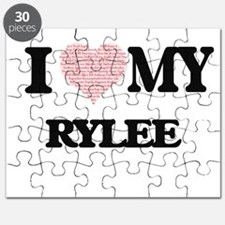 I Love my Rylee (Heart Made from Love my wo Puzzle