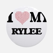 I Love my Rylee (Heart Made from Lo Round Ornament