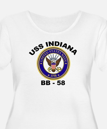 USS Indiana BB 58 Women's Plus Size Scoop Neck Tee