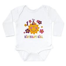 Sun 1st Birthday Long Sleeve Infant Body Suit