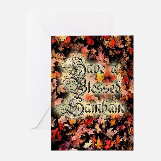 Blessed Samhain Invitation Card
