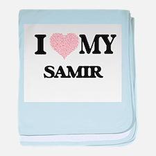 I Love my Samir (Heart Made from Love baby blanket