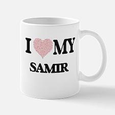 I Love my Samir (Heart Made from Love my word Mugs