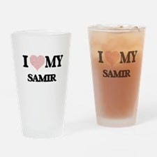 I Love my Samir (Heart Made from Lo Drinking Glass