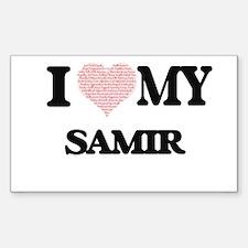 I Love my Samir (Heart Made from Love my w Decal