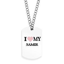 I Love my Samir (Heart Made from Love my Dog Tags