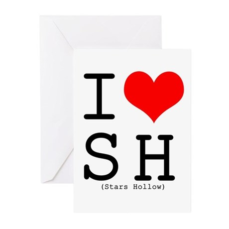 I <3 Stars Hollow Greeting Cards (Pk of 10)