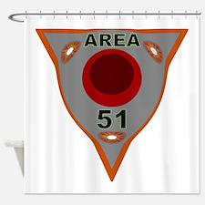 Area 51 Reverse Engineering Shower Curtain