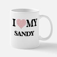 I Love my Sandy (Heart Made from Love my word Mugs
