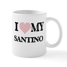 I Love my Santino (Heart Made from Love my wo Mugs