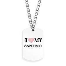 I Love my Santino (Heart Made from Love m Dog Tags