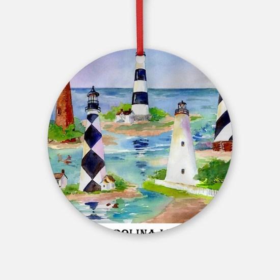 NC Light HousesOrnament (Round)
