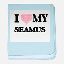 I Love my Seamus (Heart Made from Lov baby blanket