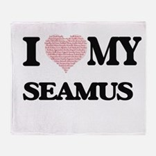 I Love my Seamus (Heart Made from Lo Throw Blanket