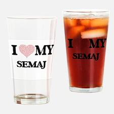 I Love my Semaj (Heart Made from Lo Drinking Glass