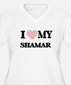 I Love my Shamar (Heart Made fro Plus Size T-Shirt