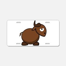 Cartoon Gnu Side Aluminum License Plate