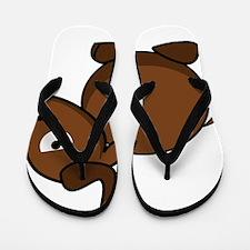Cartoon Gnu Side Flip Flops