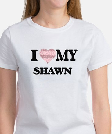 I Love my Shawn (Heart Made from Love my w T-Shirt