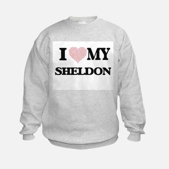 I Love my Sheldon (Heart Made from Sweatshirt