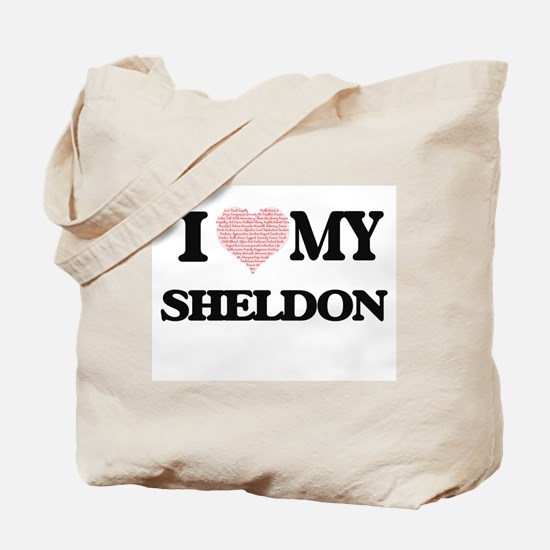 I Love my Sheldon (Heart Made from Love m Tote Bag